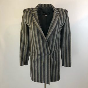 90s vintage double-breasted striped blazer
